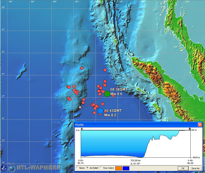 Location map of the April 11, 2012 Sumatra earthquake