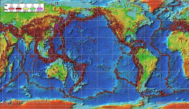 Web encyclopedia on natural hazards historical earthquake database earthquakes distribution gumiabroncs Gallery